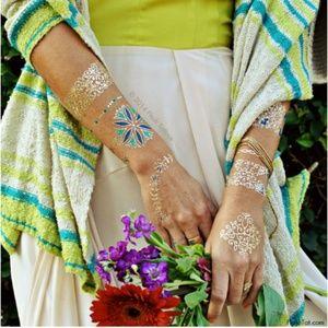 Mediterranean Metallic Temporary Tattoos